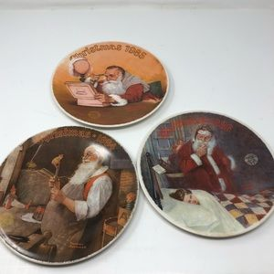Norman Rockwell Christmas Plates - 1984 1985 1986